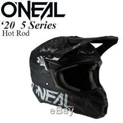 O'Neal 5 Series Helmet Hot Rod Black/White Offroad/MX/ATV/Motocross/Dirt Bike