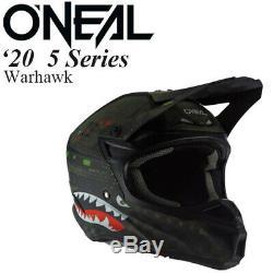 O'Neal 5 Series Helmet Warhawk Black/Green Offroad/MX/ATV/Motocross/Dirt Bike