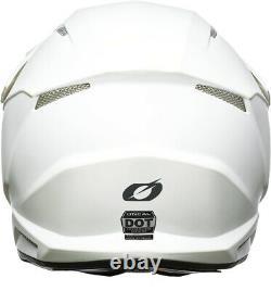 O'Neal Motocross Helmet 3 Series SRS MX Dirt Bike Solid White New 2021 Stock