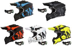 O'Neal Motocross Helmet with Goggles Off Road Racing Quad Bike Dirt Enduro ATV