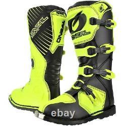 O'Neal Rider MX Adult Motocross Adventure Boots Off Road Dirt ATV Quad Hi-Vis