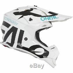 O'neal 2 Series Mx Racing Adult Quad Dirt Bike Enduro Motocross ATV Helmet White