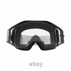 Oakley Airbrake MX Motocross Dirt Bike Goggles Jet Black Speed Clear Lens
