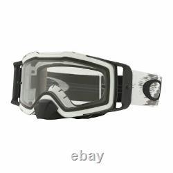 Oakley Front Line MX Motocross Dirt Bike Goggles Matt White Speed Clear Lens