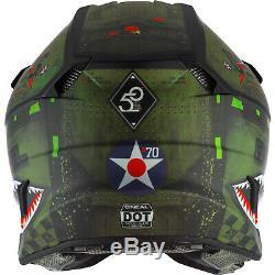 Oneal 5 Series Polyacrylite Warhawk Motocross Helmet Dirt Bike Quad Crash MX ATV