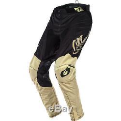 Oneal Mayhem 2020 Reseda Motocross Jersey & Pants Black Beige Kit Dirt Quad ATV