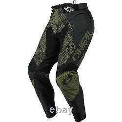Oneal Mayhem 2021 Covert Motocross Jersey & Pants Black Green Kit Dirt Bike ATV