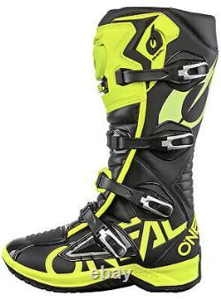 Oneal RMX Motocross Boots MX Off Road Dirt Bike ATV Racing Boot Neon Yellow