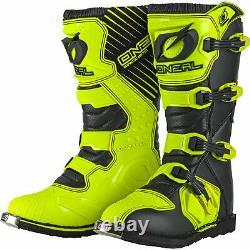 Oneal Rider Boots 2021 Motocross MX ATV Quad Dirt Race Bike New HI-Viz Yellow