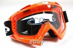 Orange Dirt Bike Atv Motorcycle Goggle Motocross M Goggle-orange