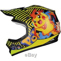 Pokemon go Kids Motocross Youth Dirt Bike ATV Offroad Helmet DOT