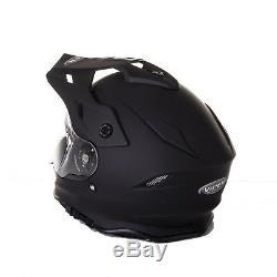 RXV288 Dual Racing Helmet Motocross Dirt Bike Offroad On Road MX ATV Dual Visor