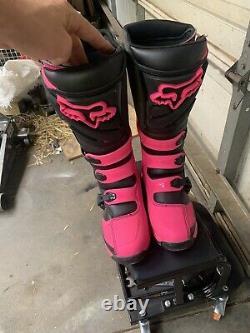 Rare Fox Racing Womens Comp 5 Boots MX ATV Motocross Off-Road Dirt Bike Gear