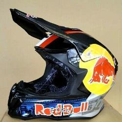 Red Bull Dual Sport Motorcycle Motocross MX ATV Dirt Bike Full Face Helmet Limit