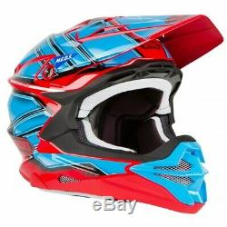 SHOEI VFX-EVO HELMET ORANGE GRANT3 Motocross KTM YAMAHA DIRT MX UTV ATV RED BLU