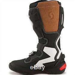 Scott 450 Mens Mx Dirt Bike Off Road ATV Quad Racing Motocross Boots-Black-6