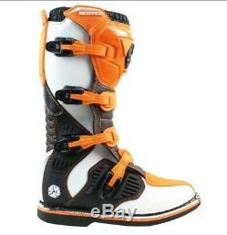 Scoyco Motocross Riding Boots Long Off Road MX Dirt Bike Atv Quad Shoes Size 7