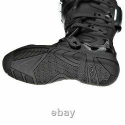 Scoyco Motocross Riding Boots Off Road MX Dirt Bike Atv Quad Long Shoes Black