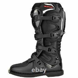 Scoyco Rmx Motocross Boots Off Road MX Dirt Bike Atv Quad Boots Black Ce App