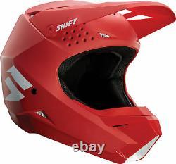 Shift Racing Adult Matte Red/White White Label Dirt Bike Helmet ATV MX 2018