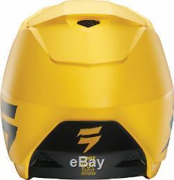 Shift Racing Adult Matte Yellow White Label Dirt Bike Helmet ATV MX 2018