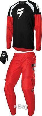 Shift White Label Race 1 Combo Jersey Pant MX Motocross Dirt Bike ATV MTB Gear