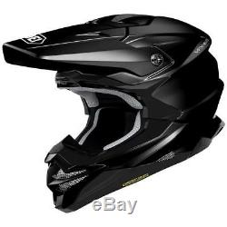 Shoei Vfx-evo Gloss Black MX Motocross Enduro Motorcycle Dirt Bike Atv Helmet