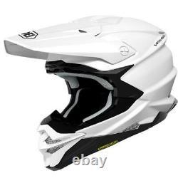 Shoei Vfx-evo Gloss White MX Motocross Enduro Motorcycle Dirt Bike Atv Helmet