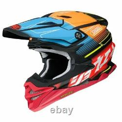 Shoei Vfx-evo Zinger Tc10 MX Motocross Enduro Motorcycle Dirt Bike Atv Helmet