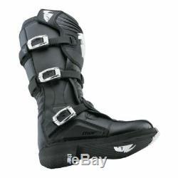 Thor Mens Black Size 11 MX Riding Boots Motocross ATV Dirt Bike