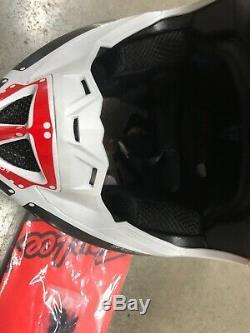 Troy Lee Designs SE4 Factory Motocross Helmet M Dirt Bike White ATV MX DIRT BIKE