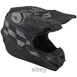 Troy Lee Designs Se4 Helmet Polyacrylite TLD Mx Motocross Dirt Bike STRIKE GRAY