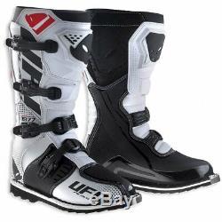 UFO Avior Motocross Boots Off Road Sports Dirt Bike ATV All Sizes Black White