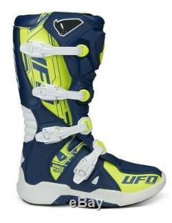 UFO Elektron Motocross Boots Off Road Sports Dirt Bike ATV All Sizes Blue Yellow
