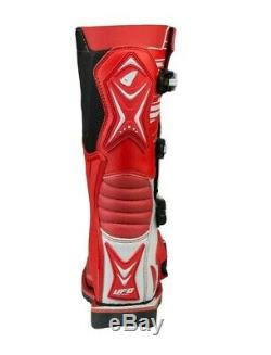 UFO Obsidian Motocross Boots Off Road Sports Dirt Bike ATV All Sizes Red White