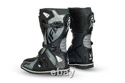 UFO Youth Motocross Boots Off Road Sports Dirt Bike ATV All Sizes Black Grey