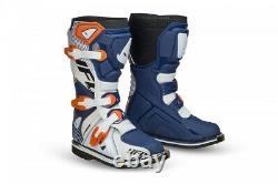 UFO Youth Motocross Boots Off Road Sports Dirt Bike ATV All Sizes Orange Blue