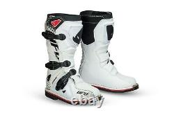 UFO Youth Motocross Boots Off Road Sports Dirt Bike ATV All Sizes White