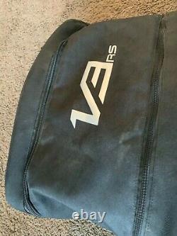 Used 2020 Fall Fox Racing V3 RS Solids Helmet Black Size Small MX ATV Dirt 100%