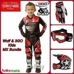 Wulf Boys Girls Motocross Kit Kids Off Road Dirt Pit Motorbike Quad Atv Enduro
